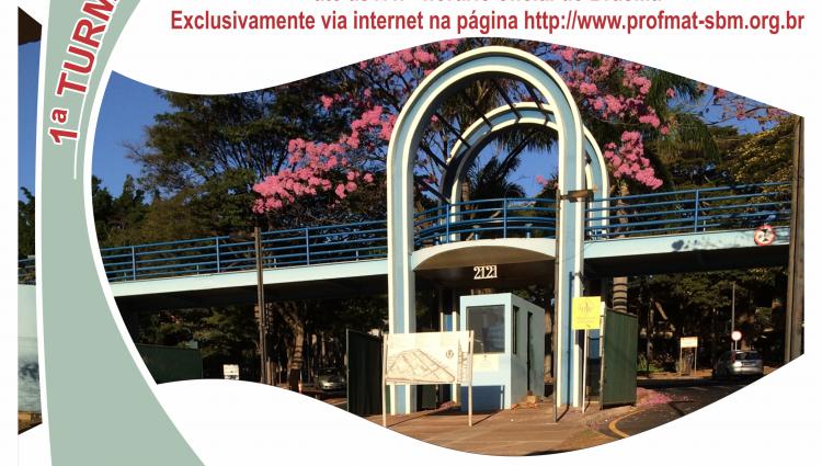 Imagem ilustrativa com o Portal de Entrada da Universidade Federal de Uberlândia e os Dizeres PROFMAT-UFU